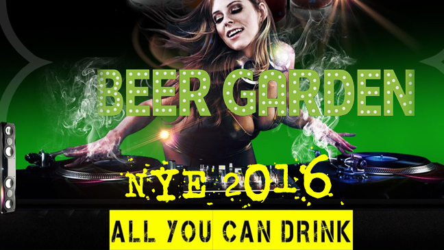 THE BEER GARDEN New Years Eve 2016 Limo Service