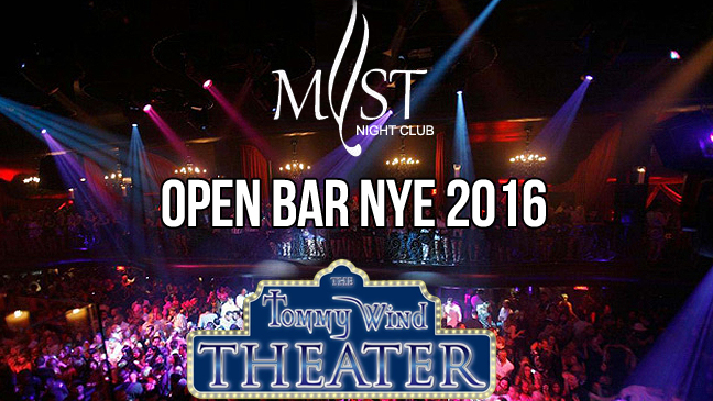 LIMO SERVICE FOR OPEN BAR NYE 2016 AT THE TOMMY WIND THEATER
