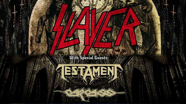 Slayer with special guests Testament and Carcass