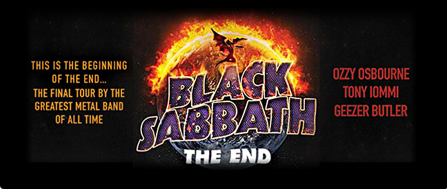 Limo Service to Black Sabbath The End Tour in Las Vegas