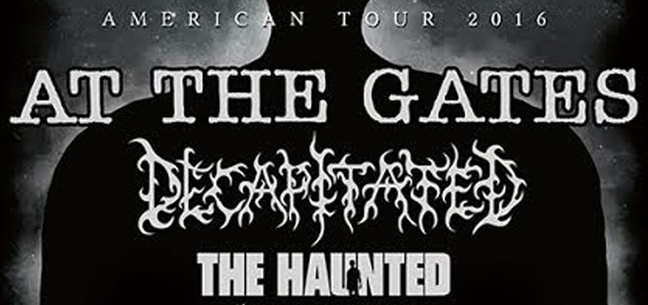 At The Gates with Decapitated, The Haunted and Harm's Way