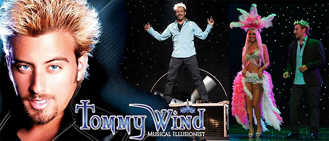 Las Vegas Limo Service to see TOMMY WIND - Magic, Music & More!