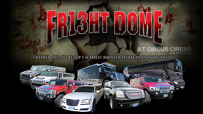 Las Vegas Limo to Fright Dome at Circus Circus