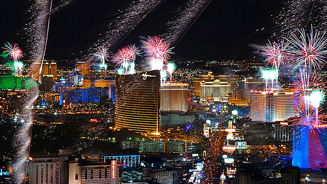 Limo Service for America's Party: Las Vegas New Years 2016.
