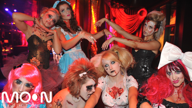 Halloween Limousine Service to Moon Nightclub at the Palms Las Vegas