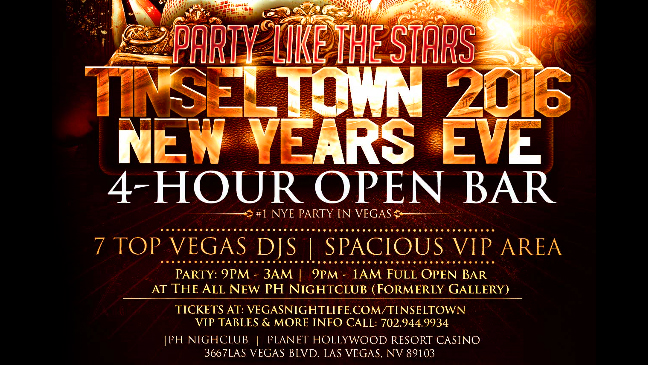 Las Vegas Limo Service to Tinseltown New Years Eve Party 2016