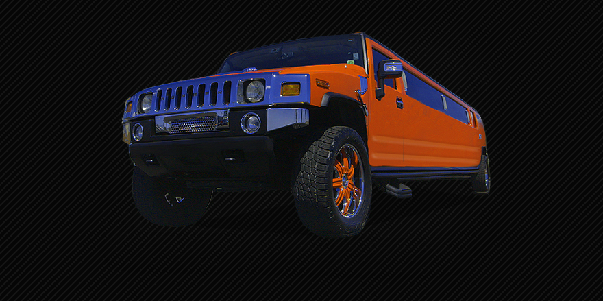 Rubicon Orange Stretched Hummer