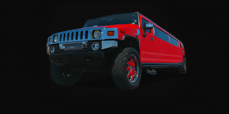 Red Stretch Hummer