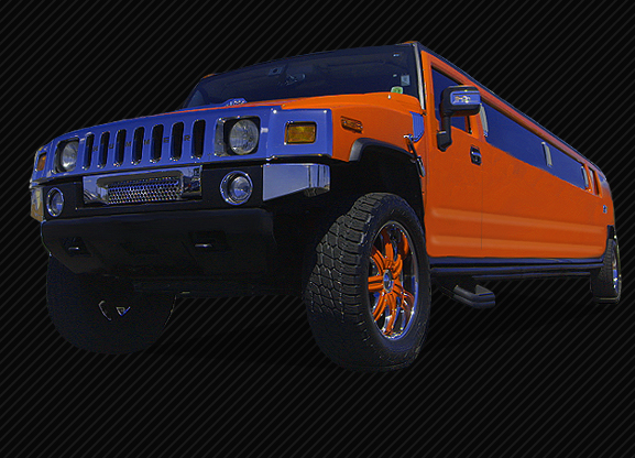 20 Passenger Stretched Orange Hummer