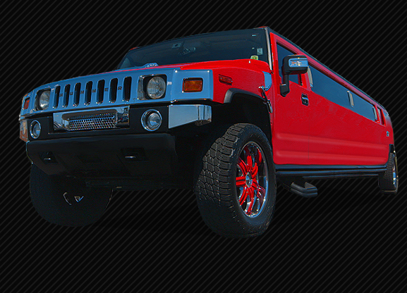 FERRARI RED STRETCHED HUMMER LIMO