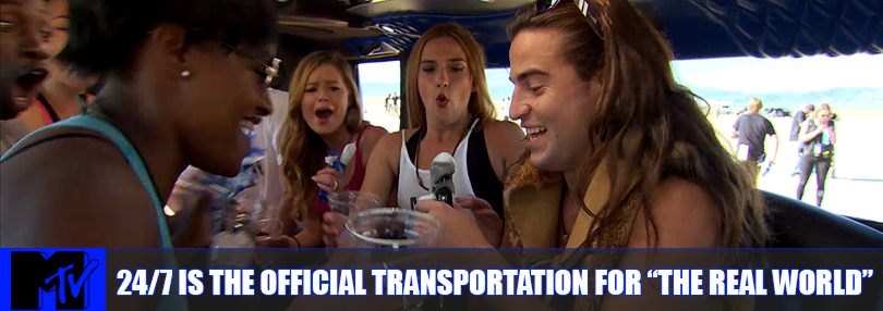 24/7 Limousines is the Official Transportation for MTV's Real World